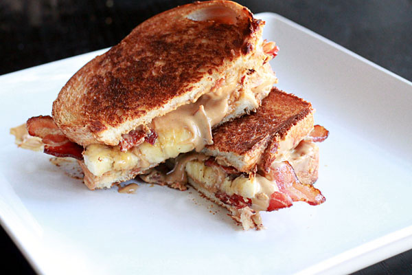 The Elvis Fried Peanut Butter Banana Honey Bacon Sandwich Ellekae