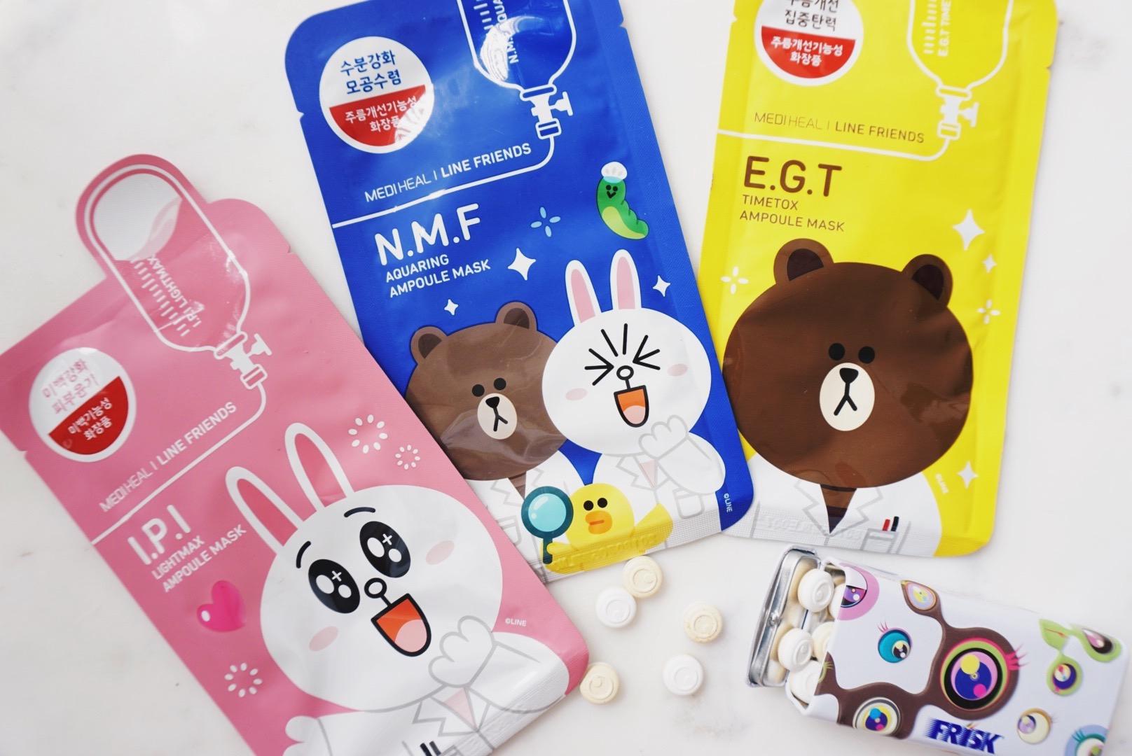 Korean Beauty Haul Ellekae Mediheal Line Friends Ampoule Mask Memebox