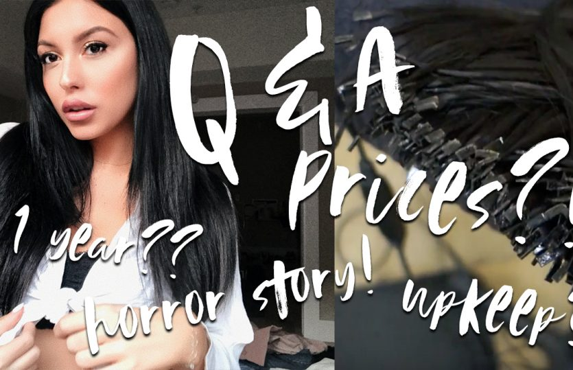 Keratin Tip Hair Extensions Q&A and Transformation